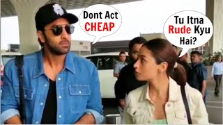Baixar Alia Bhatt ARGUES And F!GHTS With Ranbir Kapoor  At Airport In Front Of Staff