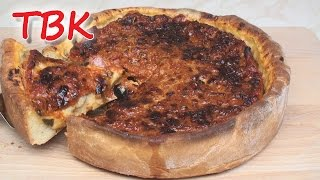 Chicago-style Deep Dish Pizza Recipe - Titli's Busy Kitchen