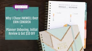 Why I Chose Inkwell Press Planner Over Erin Condren + Unboxing, Review & $10 Off | TEEFAH XOXO