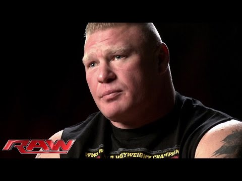 Brock Lesnar gives his unfiltered thoughts on Roman Reigns: Raw, March 16, 2015