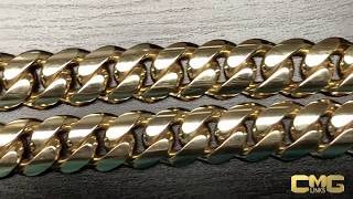 Birth of a Kilo:  How a Kilo Cuban Link is Made. (1000 Grams of 18 Karat Solid Gold)