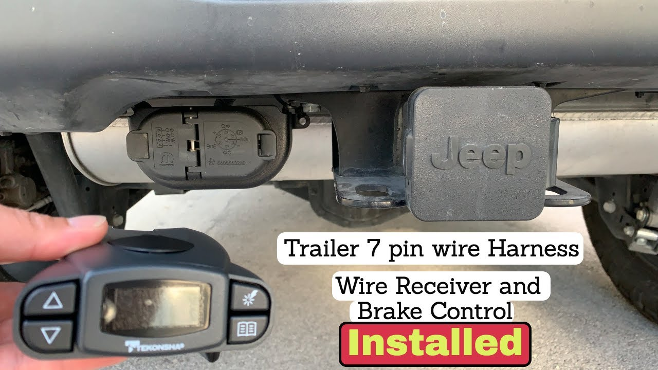 [DIAGRAM_5FD]  Jeep JL 2018 trailer 7 pin wiring harness and brake control install. -  YouTube | 7 Pin Wiring Harness Jeep |  | YouTube