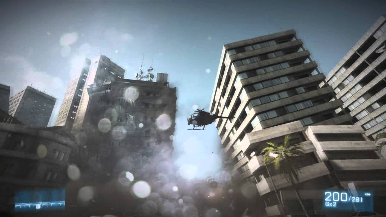 Building Falling Down : Battlefield building fall down scene campaign youtube