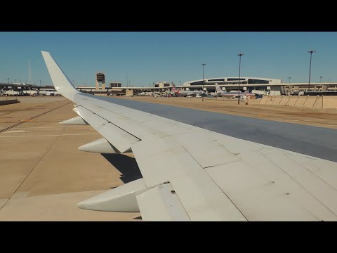 American Airlines Boeing 757-200 [N937UW] pushback and takeoff from DFW