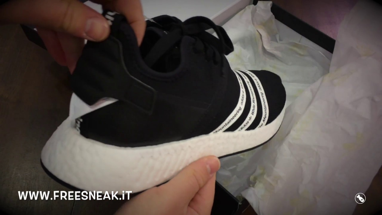 19f9a00ed9c35 Unboxing ADIDAS NMD R2 PK x white Mountaineering BB2978 - YouTube