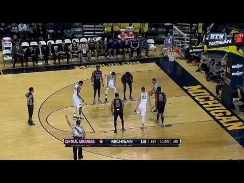 Michigan vs Central Arkansas basketball 2016 12 13