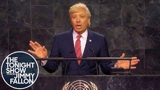 Trump Addresses Impeachment News at UN