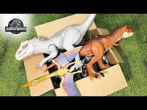 50 Rare Dinosaur Toys In A BOX! Jurassic World Dinosaur Toys & Action Figures