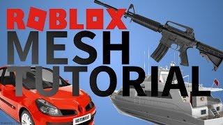 Roblox Custom Mesh Tutorial | Roblox | (Obj, 3DX, FBX e.t.c) 2017