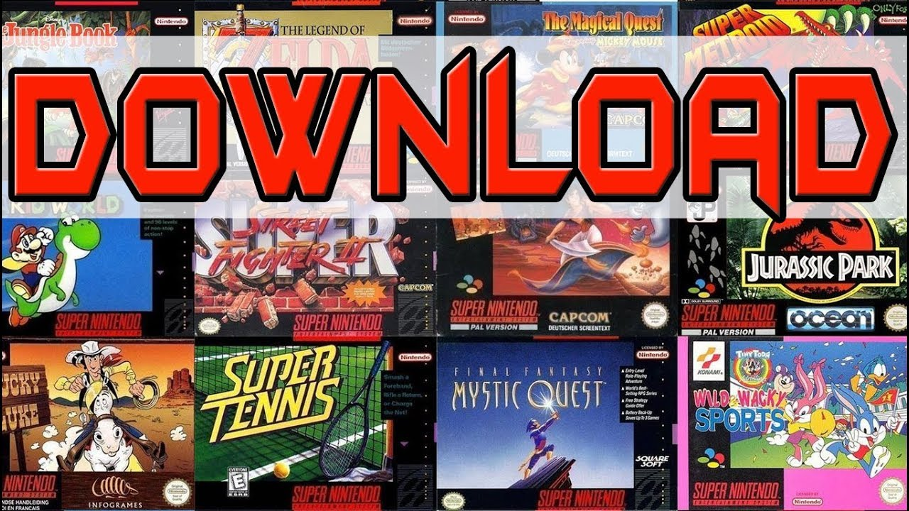 snes download pack games