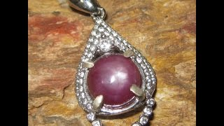 Liontin Batu Mulia Star Ruby 6.00 Carat Silver 925 Model Timur Tengah