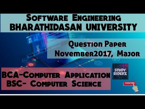 software-engineering-|-november-2017-|b.sc-cs-|-3rd-year-|-question-paper|-bharathidasan-university