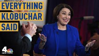 Everything Sen. Amy Klobuchar Said at the Las Vegas Democratic Debate | NBC New York