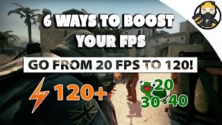 CS:GO  -  Boost Your FPS In Game With These 6 Awesome Methods