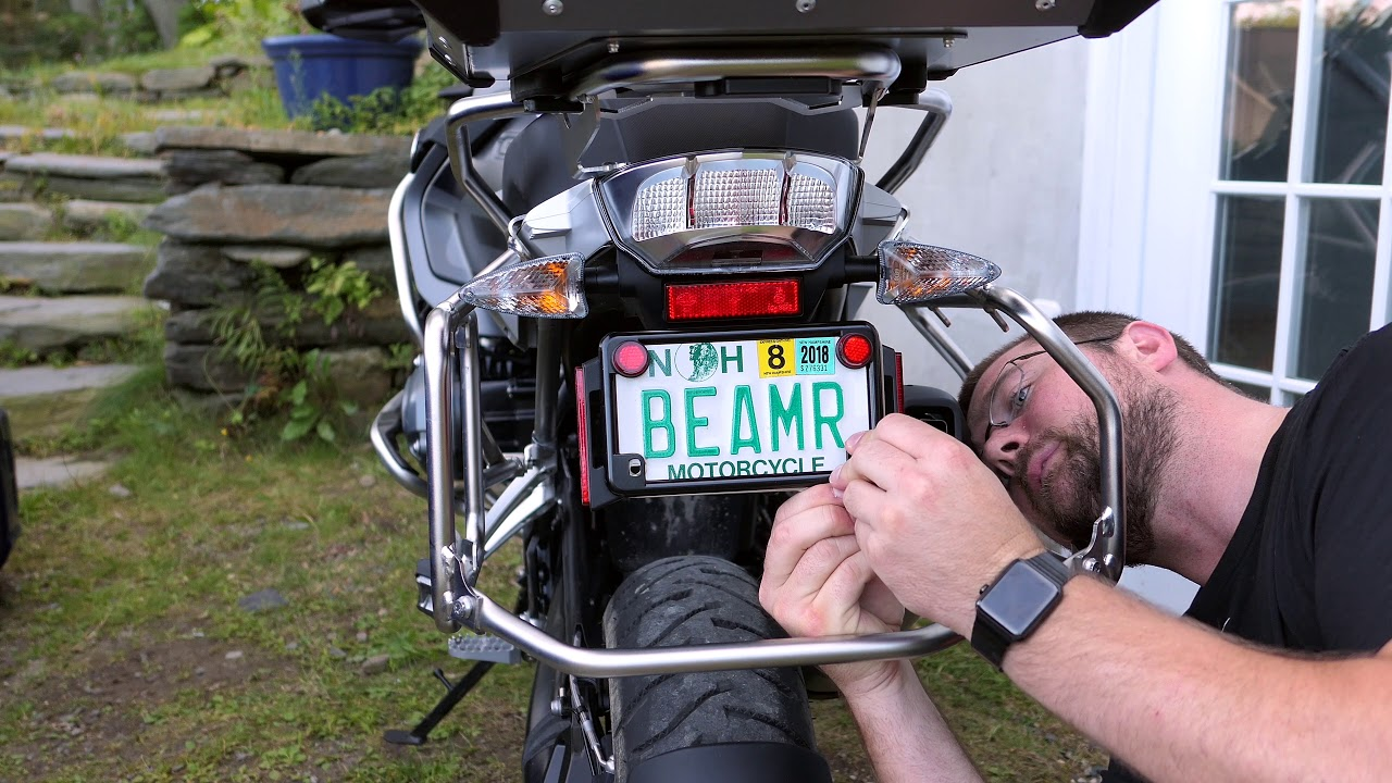 SAFETY MOTORCYCLE REFLECTIVE BLACK LICENSE PLATE FRAME BE SEEN AT NIGHT