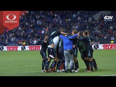 Tanda de penales de Rayados 1 (2) - (3) 1 Queretaro | Copa MX - 8vos - Cl18 | Televisa Deportes