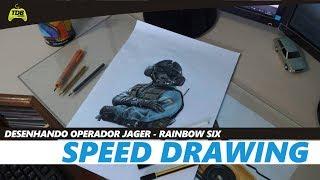 SPEED DRAWING - DESENHANDO O JAGER R6