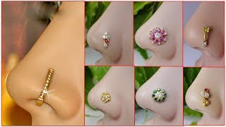 Latest Ring Type Nose Pin Nose Stud Designs Collections | daily wear,festival,stonerings