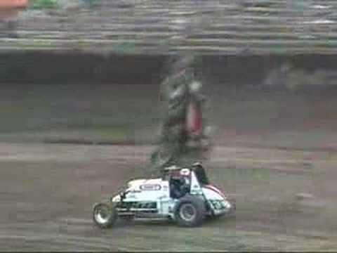 #7 Dakota Armstrong Flips at Kokomo Speedway 8-5-07
