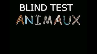 blind test animaux