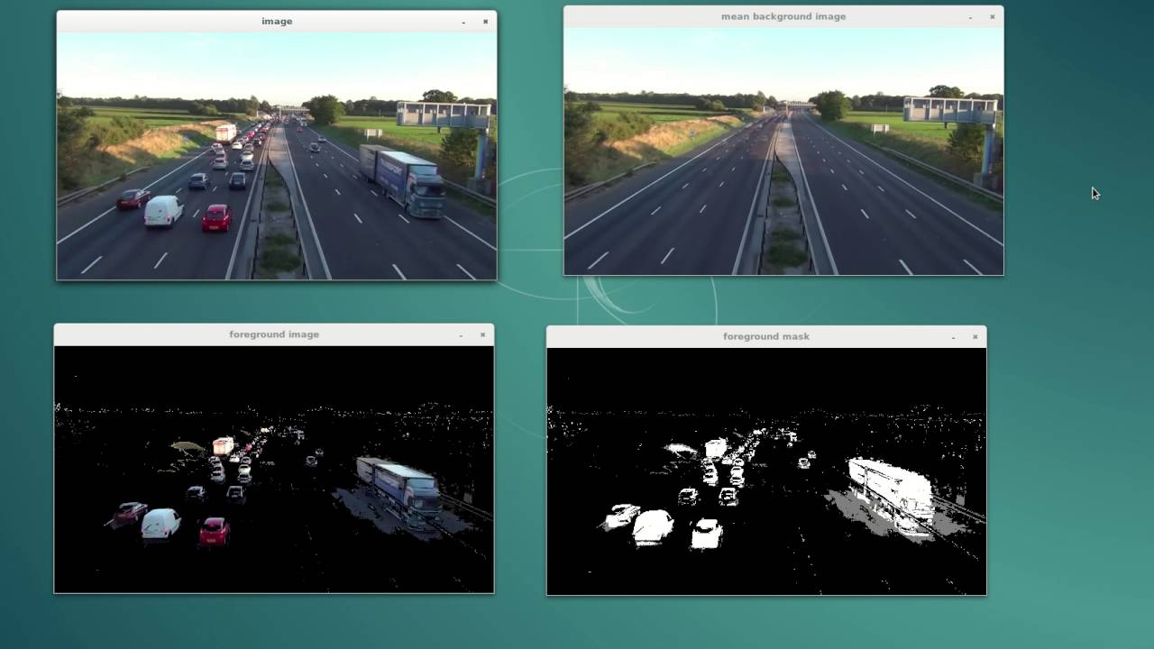 OpenCV MeanBackgroung - Source Code