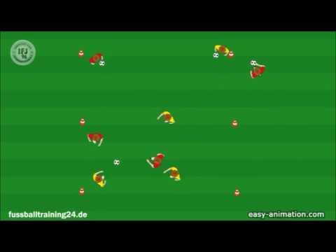 Fussballtraining In Kleingruppen Doppelpass Endlosform