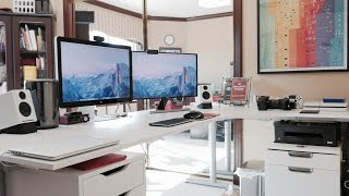 Ultimate Desk Setup Tour! - Fall 2014 (4k)