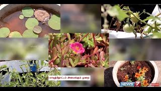 Blooming Terrace Gardening trend in Urban Areas | Poovali | News7 Tamil