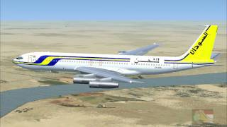 FSX 18.Sudan Airways Cargo, Boeing 707 Landing at Khartoum International Airport, Sudan. 2017 Video