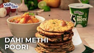 Dahi Methi Puri | Masala Puri Recipe | Methi Puri Recipe