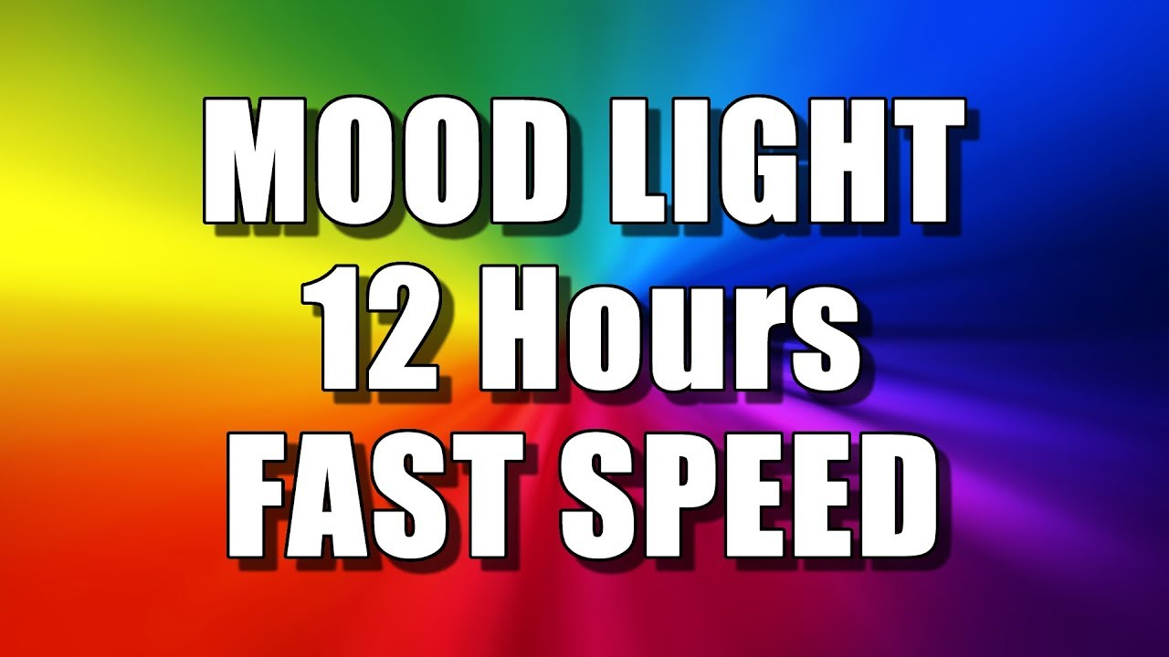Download COLOR CHANGING MOOD LIGHT (12 Hours – FAST SPEED) Multi Colour Screen – Relaxing Rainbow colours