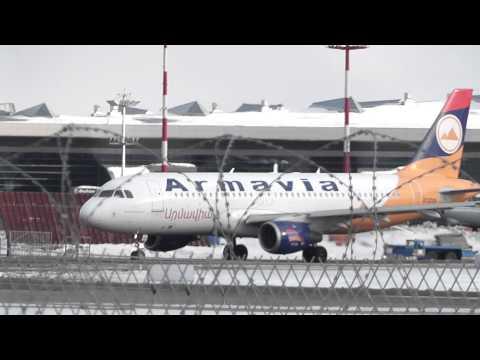 Armavia Արմավիա A320 Газпром Як-42 посадка взлет Landing Takeoff UUWW