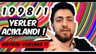 1998/1 YERLER AÇIKLANDI !!  YORUMA HERKES !!