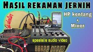 Cara merekam / record dari mixer ke hp android