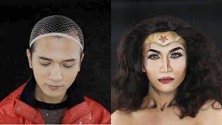 Best Makeup Transformation #16-  Wonder Woman Makeup Transformation - Cosplay Tutorial
