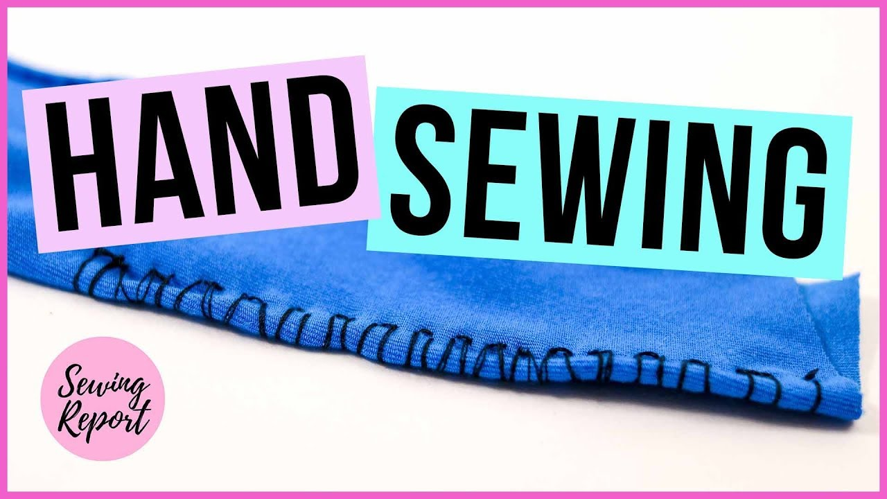 How to Hand Sew Knit Fabrics | QUICK TUTORIAL | SEWING REPORT