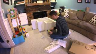 Building Ikea Trofast Storage Unit -time Lapse Taken With Gopro