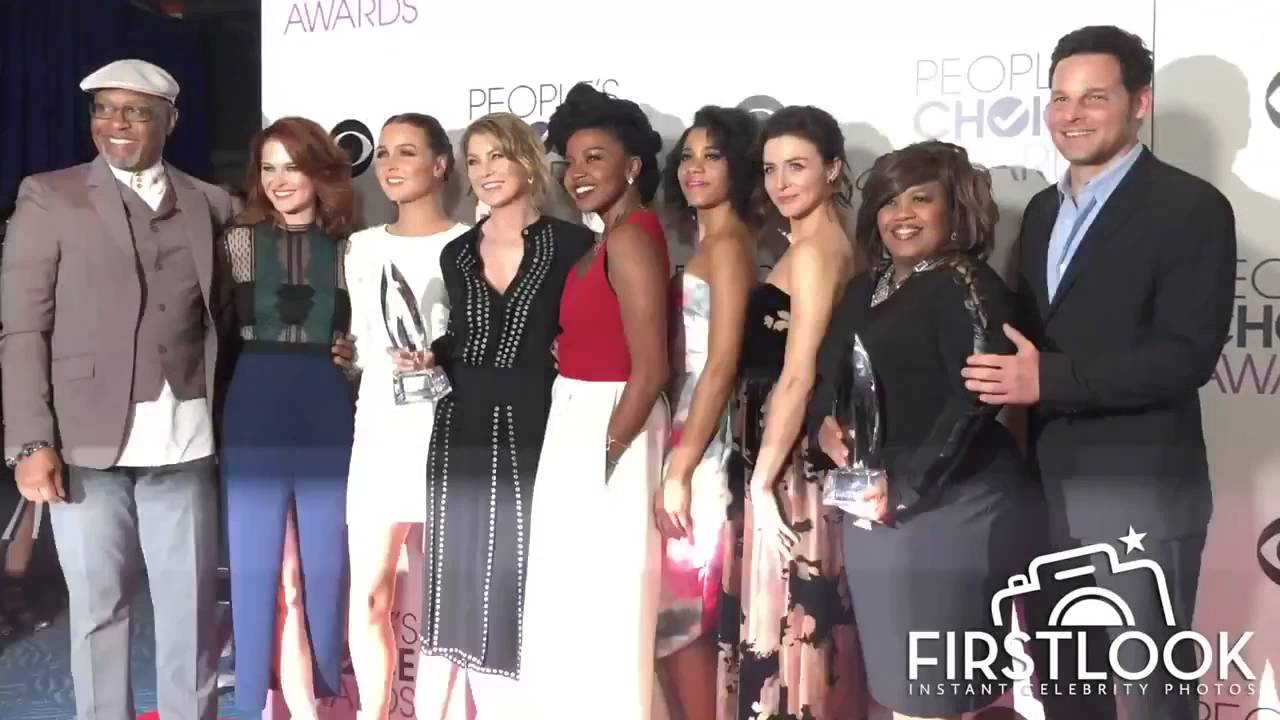 Grey\'s Anatomy Cast - People\'s Choice Awards 2016 - YouTube