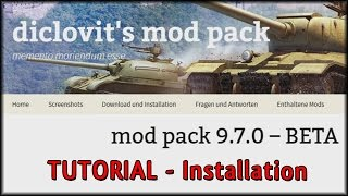 World of Tanks - Tutorial: Diclovits Modpack - Installation [ deutsch | tutorial ]