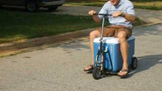 Home-made Cooler Scooter