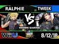 SSC 2018 Smash 4 - Tweek (Bayonetta) Vs. Ho3K | Ralphie (Cloud) Wii U Winners Quarters