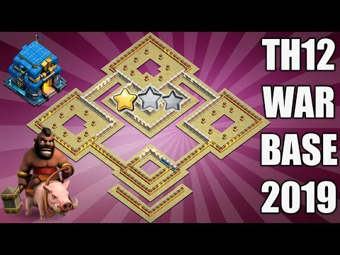 'New Amazing' BEST TH12 WAR BASE 2019 Anti 2 Star With 3 Replays Anti Electro Dragon Anti Red Dragon