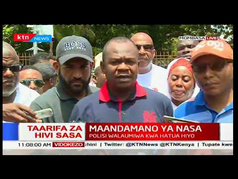 NASA supporters in Mombasa hold peaceful anti-IEBC demonstrations