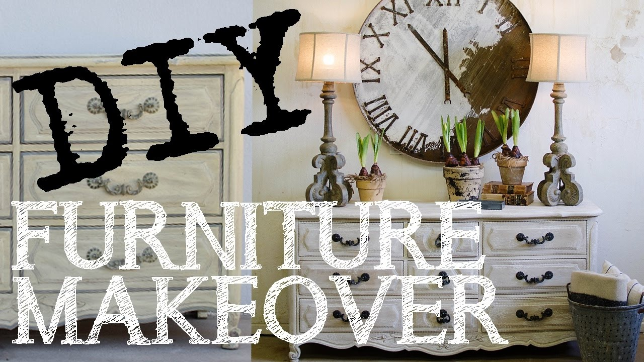 How to White Wash Furniture using Chalk Paint DIY Restoration