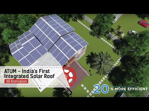 ATUM - India's First Integrated Solar Roof | Product Video |3D Animation| Raasta Studios