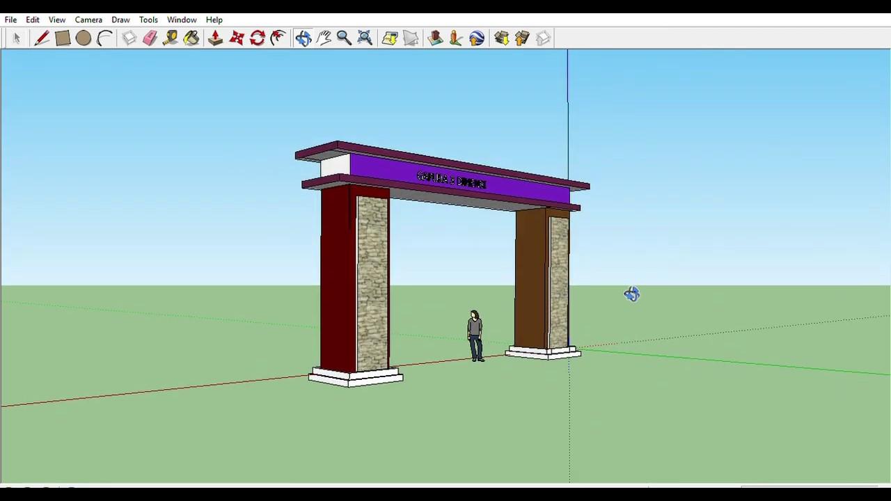 Desain Gapura 3D Part 1 #1