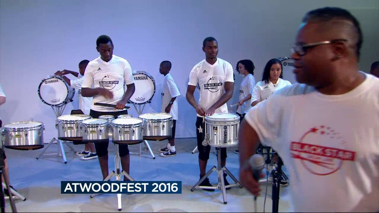 Black Star Drum Line gives preview performance ahead of AtwoodFest 2016