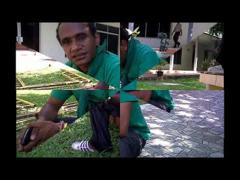 Hitam Kulit Kriting rambut Aku Papua