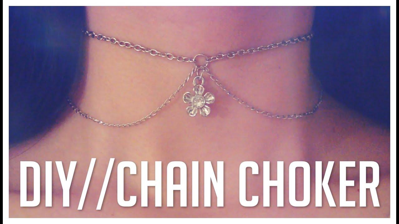 Easy diy chain choker necklace do it yourself youtube solutioingenieria Gallery