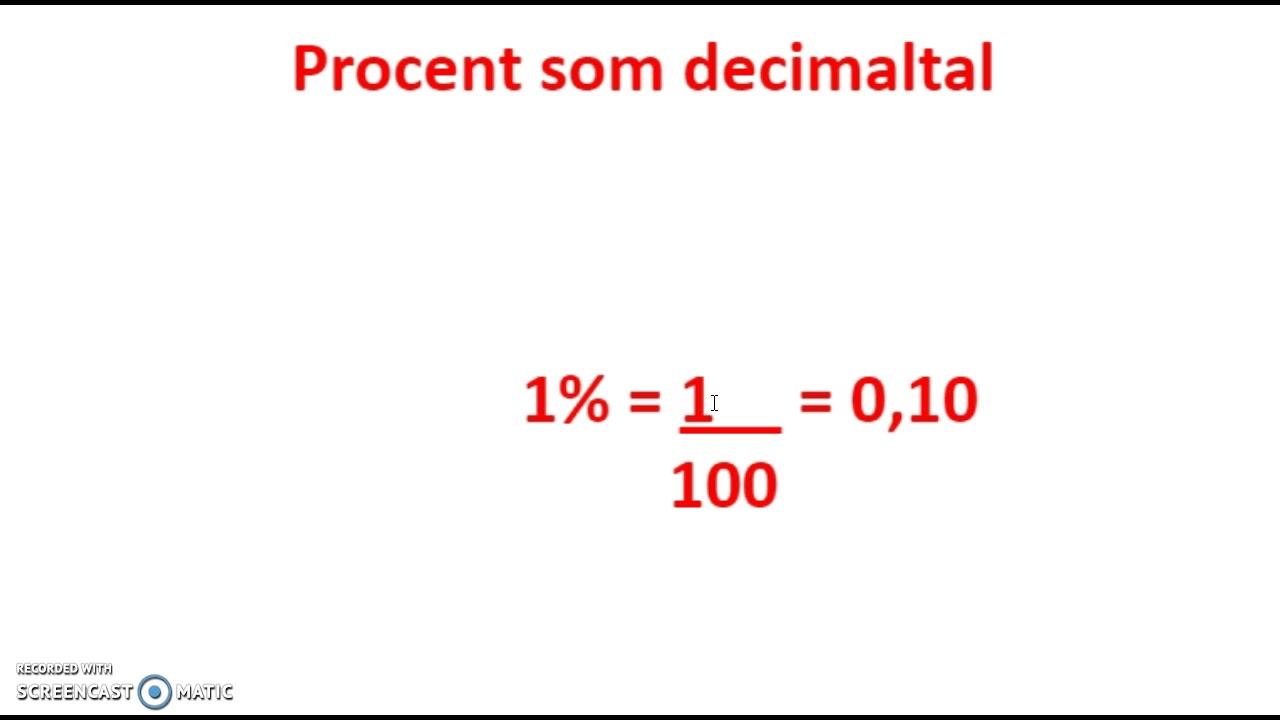 hvad er procent